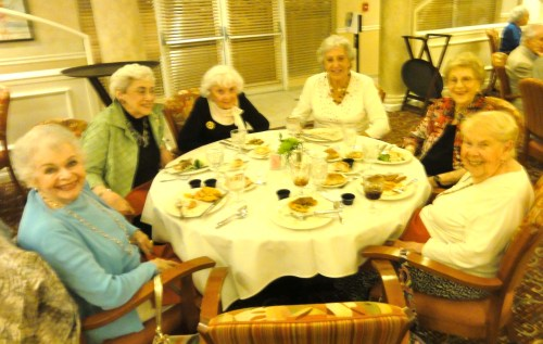 "My grandmother, Shirley Bernstein, bottom right, and the ""girls"" - her table-mates."