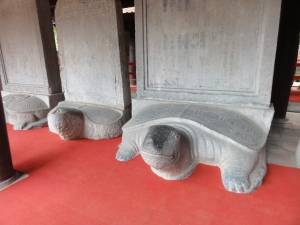 The turtles of learning - a UNESCO protected set of statues.