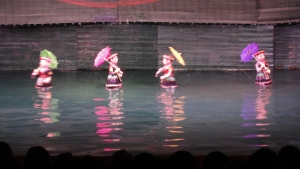The beautiful and graceful water puppets.