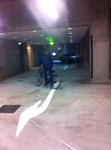 parking lot bike man 2