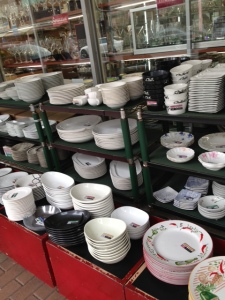 Shop after shop full of dishes for every type of restaurant or occasion.