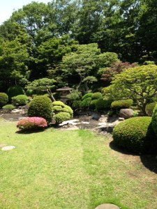 The Japanese garden outside sojiji.