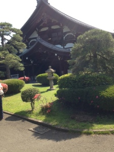 The main building and entry point of the monastery, Koshakudai. It is build completely of Japanese Cyprus wood.