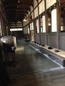 The meditation room - the monks eat, sleep, pray, meditate and live here.