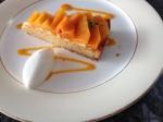 Mango tart and the sugary-est whipped cream I've ever tasted!